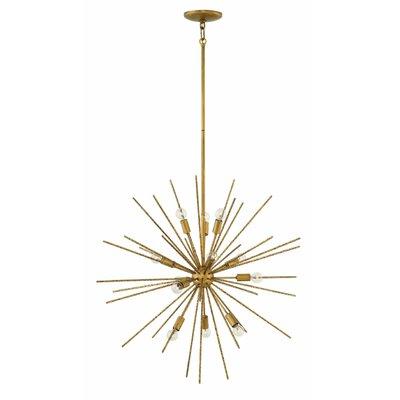 Rodrigo 12-Light Sputnik Chandelier Finish: Burnished Gold