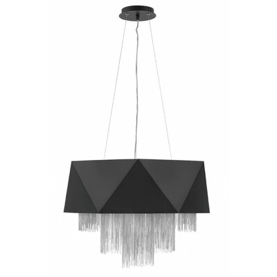 Zuma Single Tier 8-Light Geometric Pendant Finish: Satin Black Silver