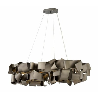 Delfina Linear 6-Light Geometric Pendant Finish: Matte Bronze