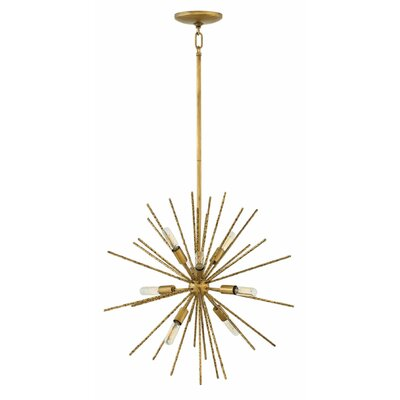 Tryst 8-Light Sputnik Chandelier Finish: Burnished Gold