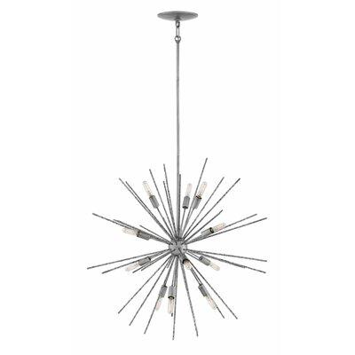 Rodrigo 12-Light Sputnik Chandelier Finish: Burnished Nickel