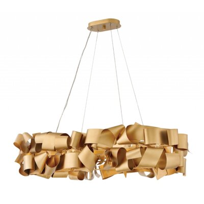 Delfina Linear 6-Light Geometric Pendant Finish: Gold