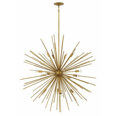 Rodrigo 16-Light Sputnik Chandelier Finish: Burnished Gold