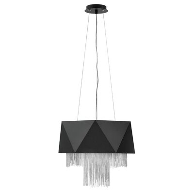 Zuma Single Tier 6-Light Geometric Pendant Finish: Satin Black Silver