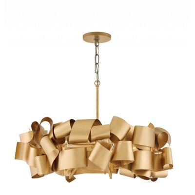 Delfina Linear 5-Light Geometric Pendant Finish: Gold