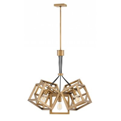 Reiber 5-Light Cluster Pendant Finish: Brushed Bronze