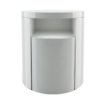 Mulberry 1 Drawer Nightstand Finish: White Lacquer