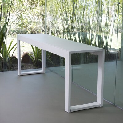 Hanover Console Table Finish: White Glass on White Oak
