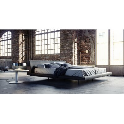 Jane Upholstered Platform Bed Size: King, Upholstery: Slate