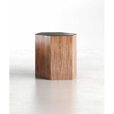 Centre Coffee Table Finish: Black on Walnut, Size: Large