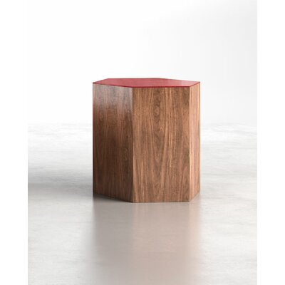 Centre Coffee Table Finish: Chili Pepper on Walnut, Size: Large