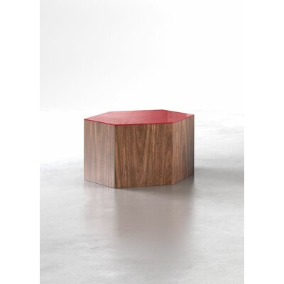 Centre Coffee Table Size: Small, Finish: Black on Walnut