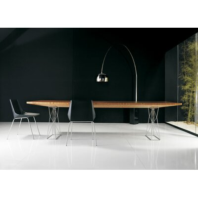 Curzon Dining Table Size: 8 6 L, Finish: Black/Black