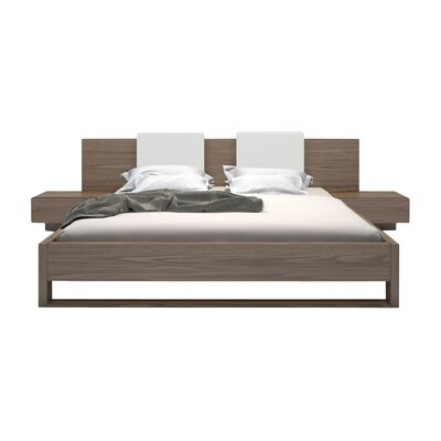 Monroe Upholstered Platform Bed Size: Queen, Color: Walnut
