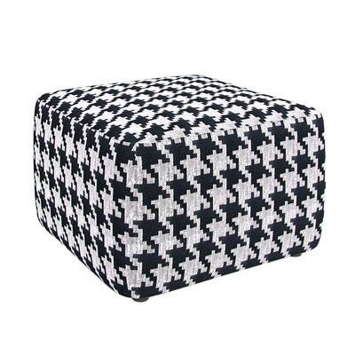 Hester Ottoman Upholstery: Black White Houndstooth