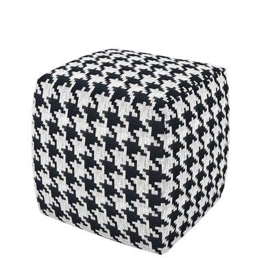 Hester Cube Ottoman Upholstery: Black White Houndstooth