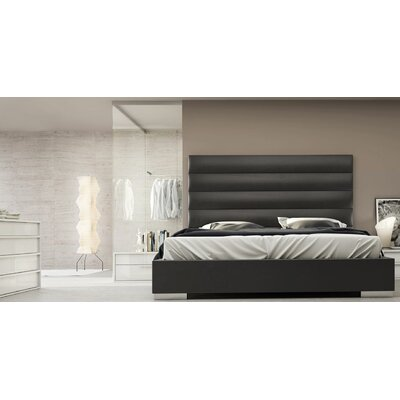Prince Upholstered Platform Bed Size: California King, Finish: Eiffel Tower