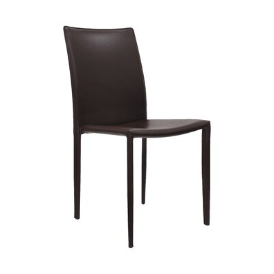 Varick Upholstered Dining Chair (Set of 2) Finish: Chocolate