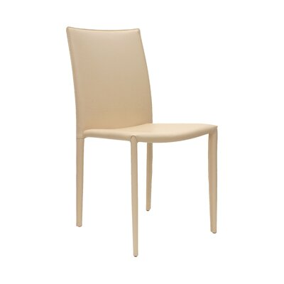 Varick Upholstered Dining Chair (Set of 2) Finish: Dark Beige