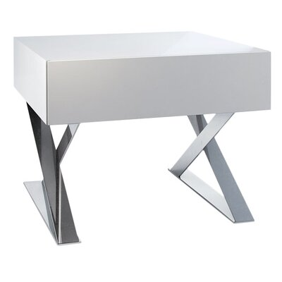 Cleveland 1 Drawer Nightstand Color: White Lacquer
