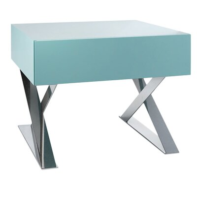 Cleveland 1 Drawer Nightstand Color: Nile Blue Matte