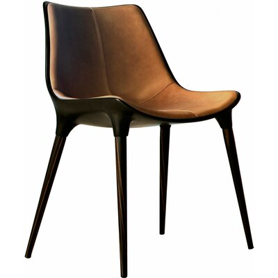 Langham Dining Chair Finish: Caramel Leather on Cathedral Ebony