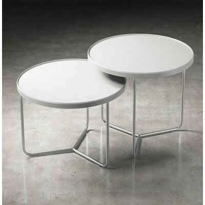 Adelphi 2 Piece Nesting Tables Finish: White