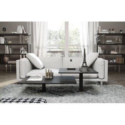 Fulton Top Grain Leather Sofa Upholstery: White
