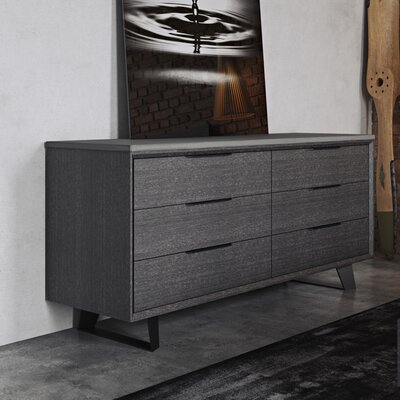 Amsterdam 6 Drawer Double Dresser
