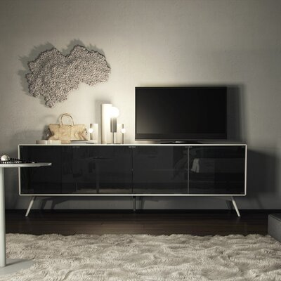Christopher 72 TV Stand Color: White Matte