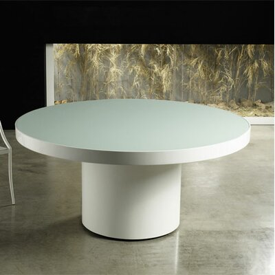 Berkeley Dining Table Size / Finish: 71 inch/White Lacquer with White Glass