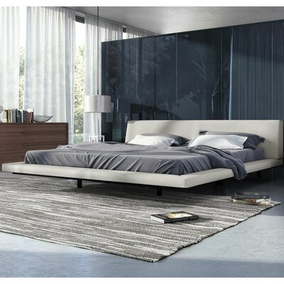 Jane Upholstered Platform Bed Upholstery: Moon Beam, Size: California King