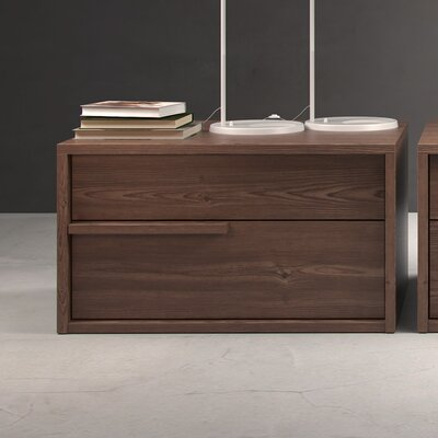 Jane 2 Drawer Nightstand Finish: Walnut, Drawer: Left