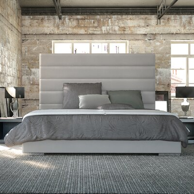 Prince Upholstered Platform Bed Finish: Dusty Gray, Size: King