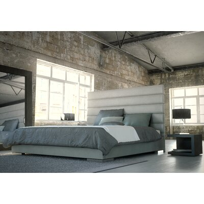 Prince Upholstered Platform Bed Color: Dusty Gray, Size: Queen