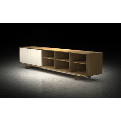 Chiswick TV Stand Finish: Natural Oak / Beige Lacquer