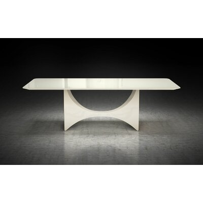 Camden Dining Table Finish: Beige Glass / Beige Lacquer