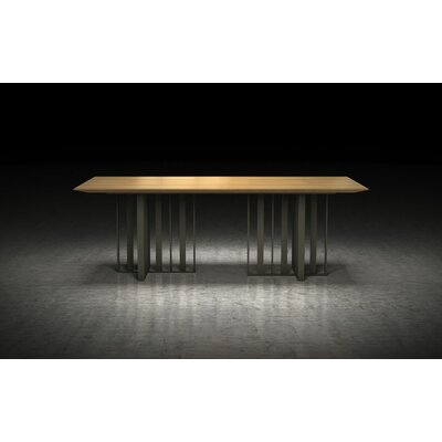 Spitalfields Dining Table Finish: Natural Oak / Bronze, Size: 30 H  x 45 W x 87 L