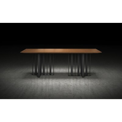 Spitalfields Dining Table Size: 30 H  x 45 W x 87 L, Finish: Walnut / Graphite