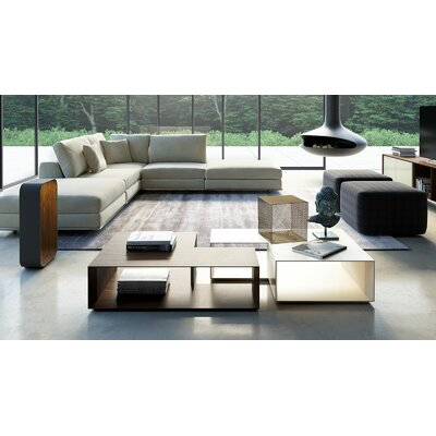 Putney Jigsaw Coffee Table Finish: Natural Oak / Matte Beige