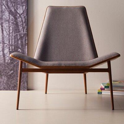Kent Lounge Chair Finish: Gray Denim / Caramel over Dark Teak