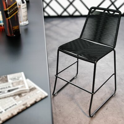 Barclay 26 Patio Bar Stool Color: Black