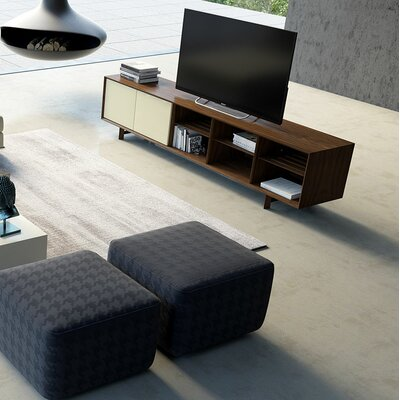 Chiswick 95 TV Stand Color: Walnut / Beige Lacquer