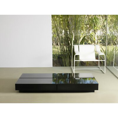 Dean Coffee Table Base Color: White, Top Color: Dark Ebony