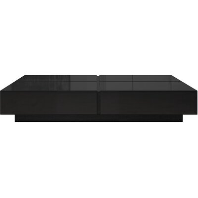 Dean Coffee Table Base Color: Black, Top Color: White