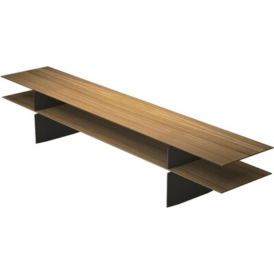 Kensington Console Table Finish: Natural Oak / Bronze