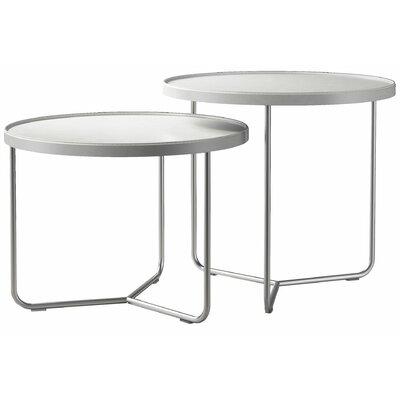 Adelphi 2 Piece Nesting Table Set Finish: Bright White