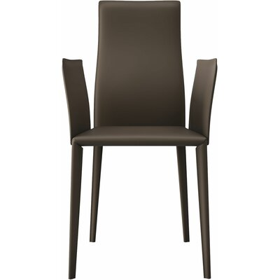Lucca Genuine Leather Upholstered Dining Chair Finish: Reclaimed Dove Gray