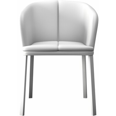 Como Genuine Leather Upholstered Dining Chair Finish: White