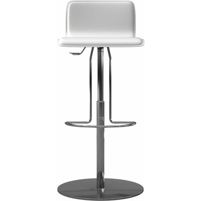 Prato Adjustable Height Bar Stool Finish: Reclaimed White